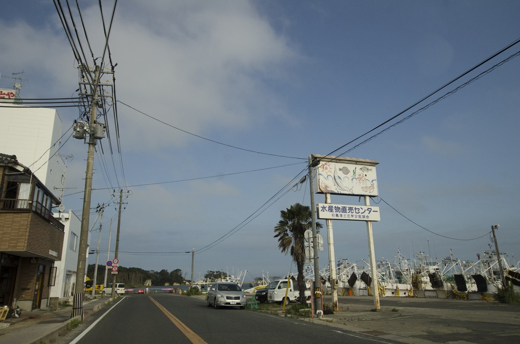 水産物直売センター。この辺は普通の田舎町といった風情。