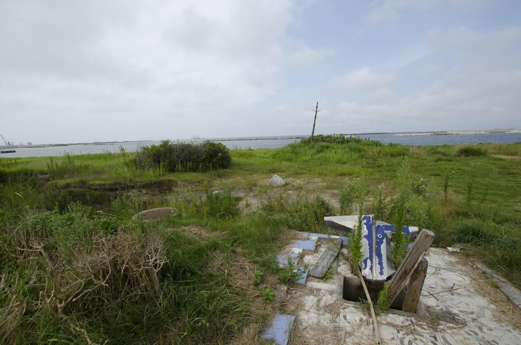 原釜・尾浜海水浴場手前。